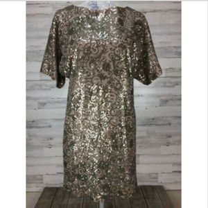 SCARLETT sz 4 Brown Bronze SEQUIN Dress